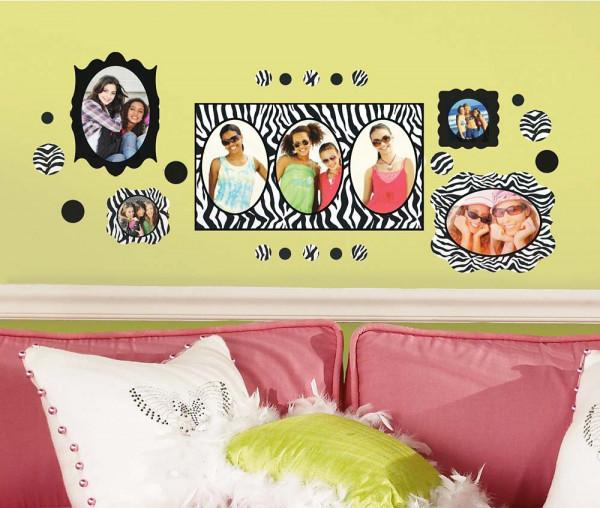 Wandsticker Zebrastreifen Fotorahmen Jugendzimmer