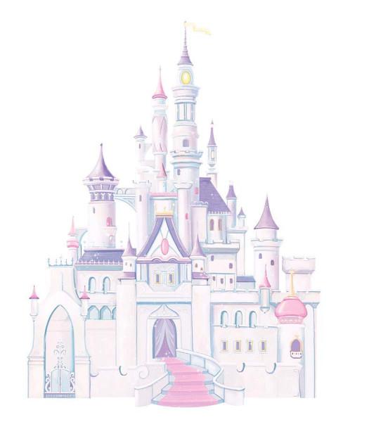 Wandsticker Disney Märchenschloss Glitter