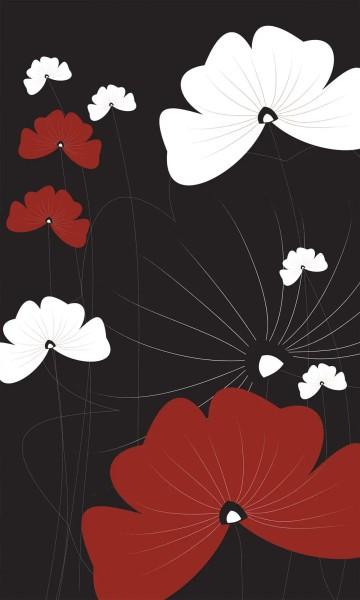 Vlies Fototapete Blüten Blumen Grafik 150x250