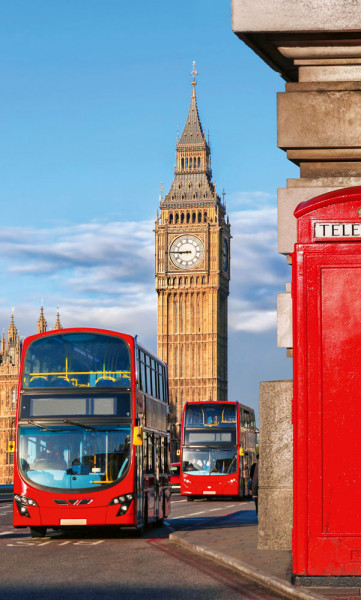Vlies Fototapete Glockenturm London 150x250