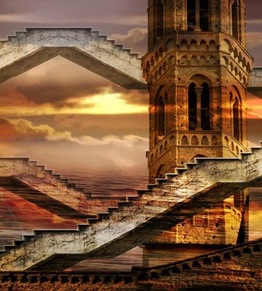 Vliestapete Turm 225x250
