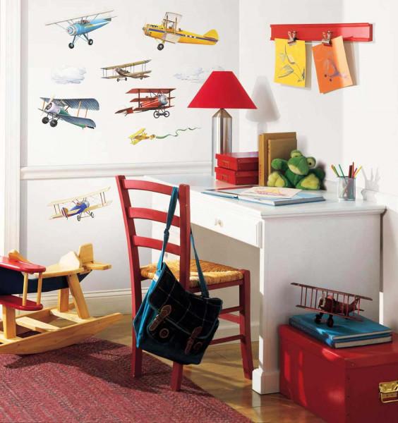 Wandsticker Flugzeuge in den Wolken Kinderzimmer