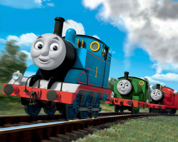 Fototapete Lokomotive Thomas Walltastic