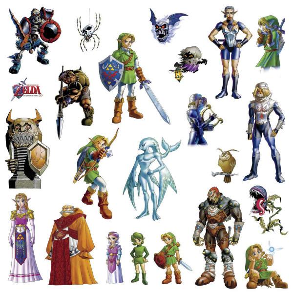 Wandsticker Legend of Zelda Ocarina of Time Nintendo