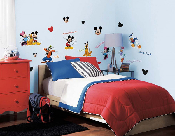 Wandtattoo Mickey Mouse Club Kinderzimmer