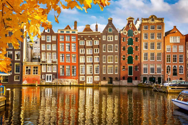 Vliestapete Holland Häuser 375x250