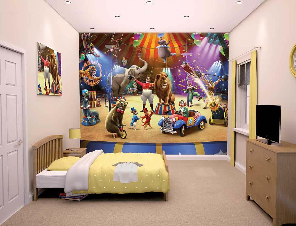Fototapete Kinderzimmer Zirkus Tiere Manege Tapetenwelt