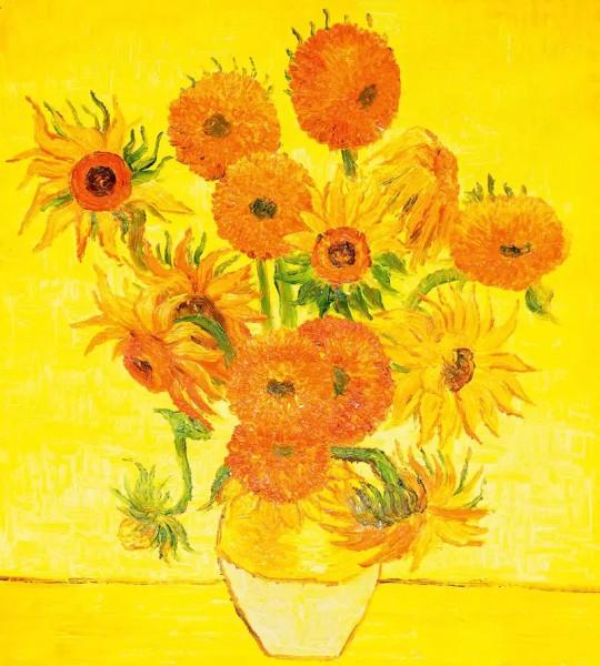 Vliestapete Sonnenblumen Vincent van Gogh 225x250