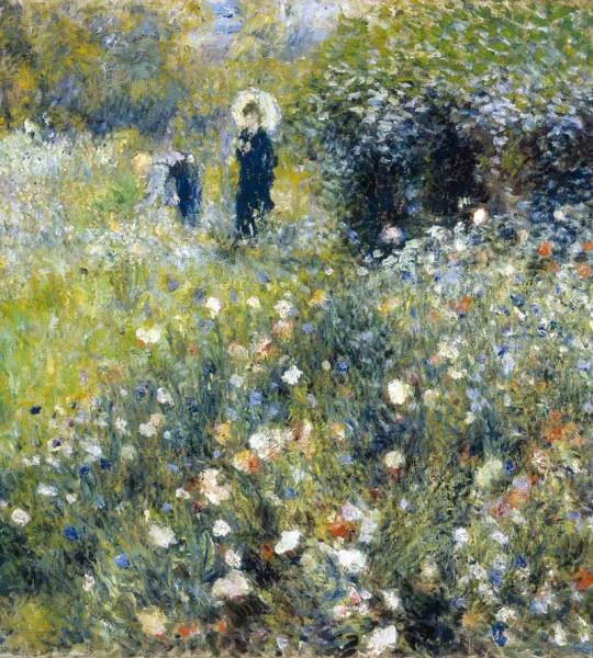 Vliestapete Frauen im Garten Renoir 225x250
