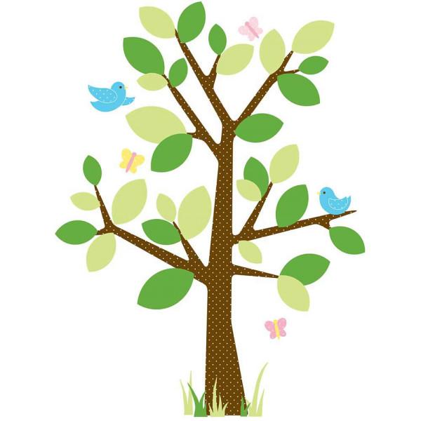 Wandsticker Punkteblätterbaum