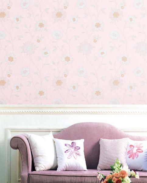 Selbstklebende Tapete Blütenmotiv Wohnzimmer