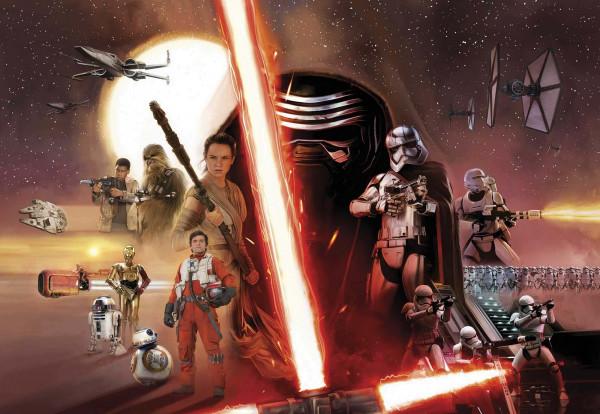 Fototapete Star Wars Erwachen der Macht Collage