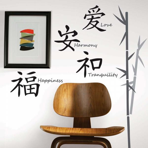 Wandtattoo chinesische Schriftzeichen Flur