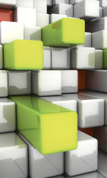 Vlies Fototapete 3D Tetris 150x250