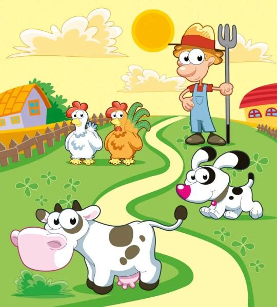 Vliestapete Mein kleiner Bauernhof 225x250