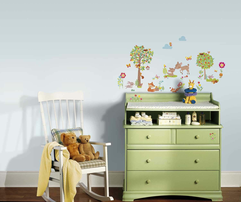 Wandsticker tiere des waldes babyzimmer tapetenwelt - Wandsticker jugendzimmer ...