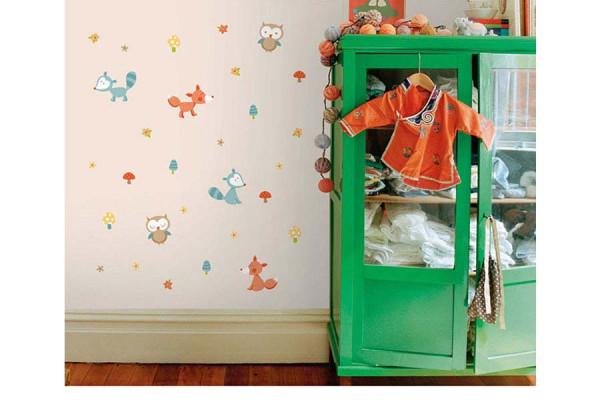 Wandsticker Set Waldtiere Kinderzimmer