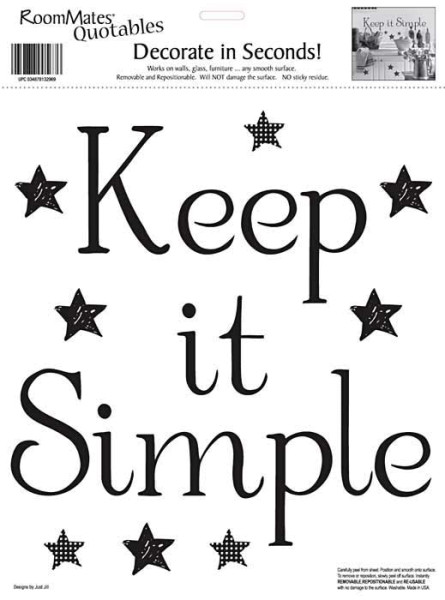 Wandsticker Wandworte Keep It Simple
