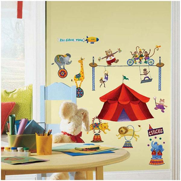Wandsticker Zirkuszelt Tiere Artist Kinderzimmer