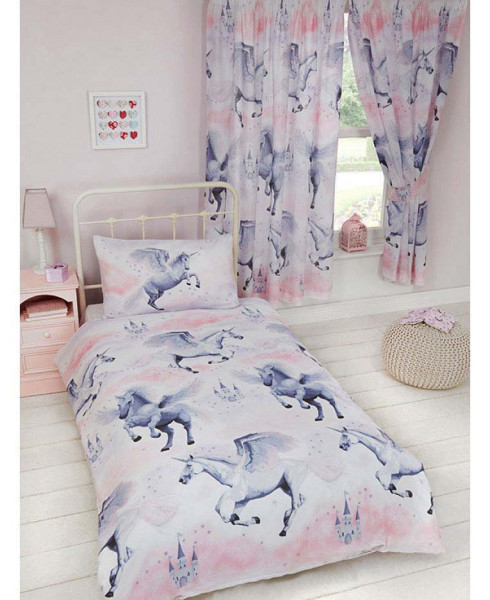 Kinderzimmer Bettwäsche Einhorn Sternenstaub