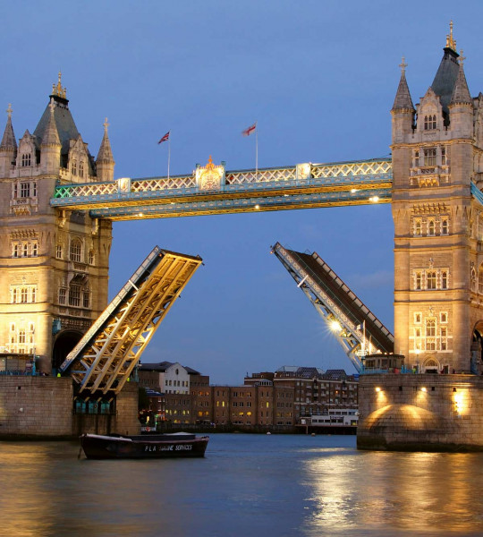 Vliestapete Tower Bridge beleuchtet 225x250