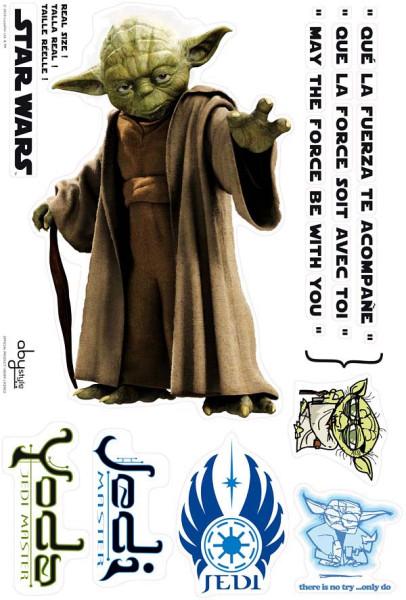 Wandsticker Star Wars Jedi-Meister Yoda