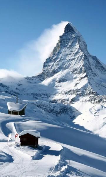 Vlies Fototapete Matterhorn 150x250