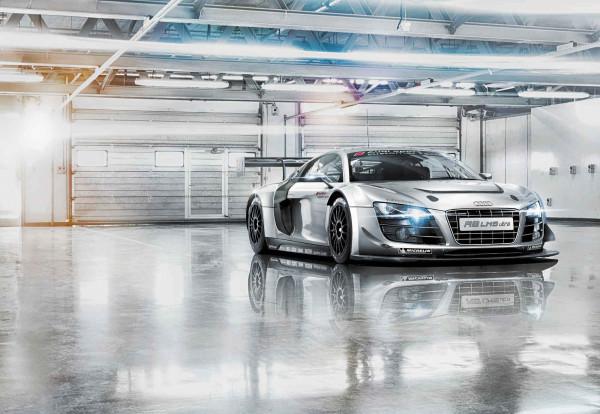 Fototapete Sportwagen Audi R8 Le Mans