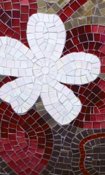 Vlies Fototapete rotes Mosaik 150x250