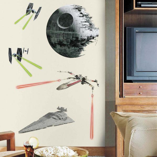 Wandsticker Star Wars Todesstern RoomMates Jugendzimmer