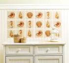 Badezimmer Wandsticker Muscheln Seepferdchen