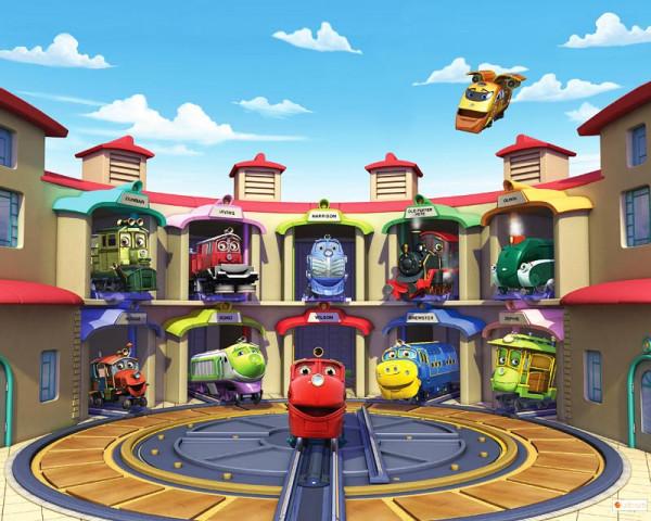 Fototapete Chuggington Eisenbahn Zug