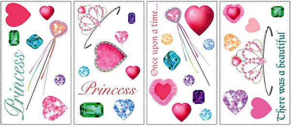 Wandsticker Prinzessin Diamanten