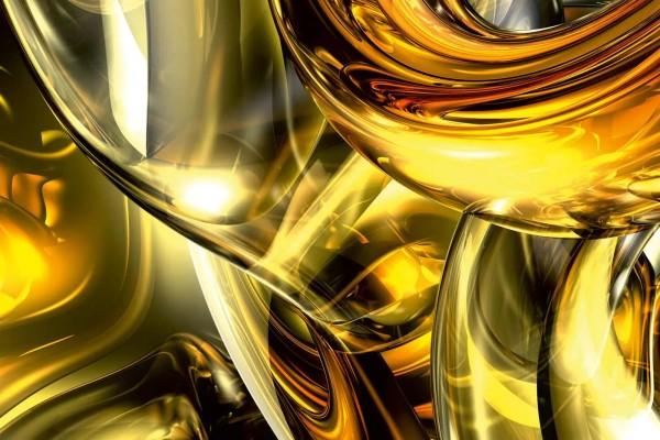 Vliestapete Goldener Draht 375x250
