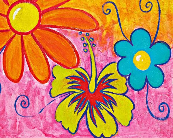 Fototapete Vlies Wandbild Frühlingsblumen