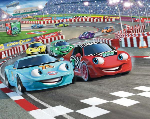 Fototapete Rennauto Car Racers