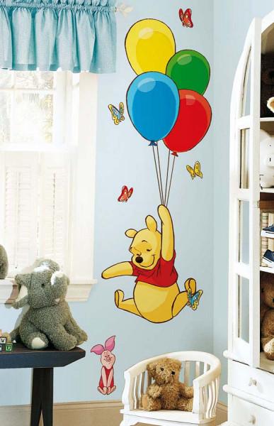 Wandtattoo Winnie Pooh Luftballons Kinderzimmer