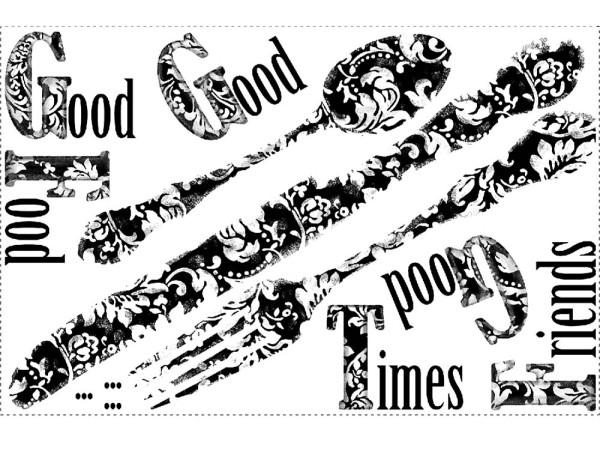 Wandsticker Good Times Silberbesteck