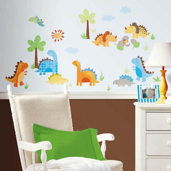Wandsticker Baby Dinosaurier Kinderzimmer