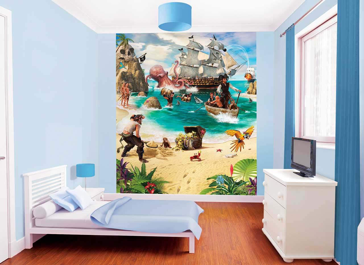 Fototapete Kinderzimmer Piraten Schatzinsel