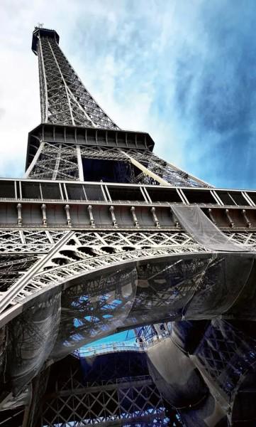 Vlies Fototapete Eiffelturm Paris 150x250