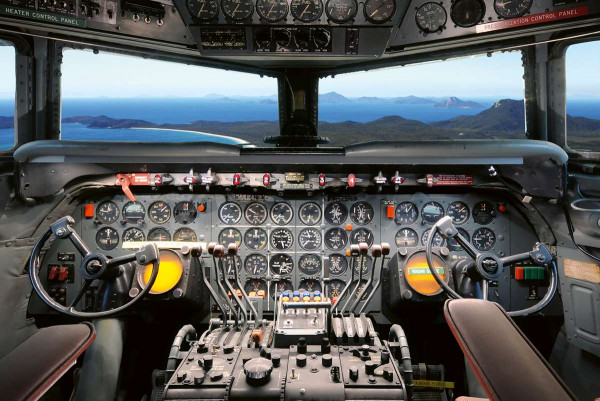 Vliestapete Cockpit 375x250