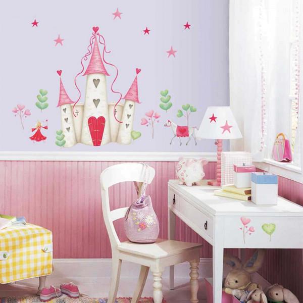 Wandtattoo Prinzessinnenschloss Mädchenzimmer
