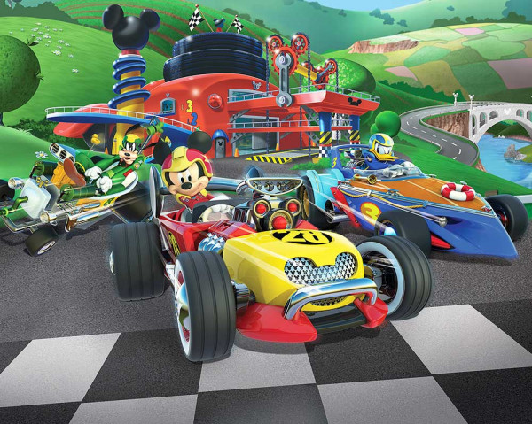 Walltastic Fototapete Disney Mickey Mouse Roadster Racer