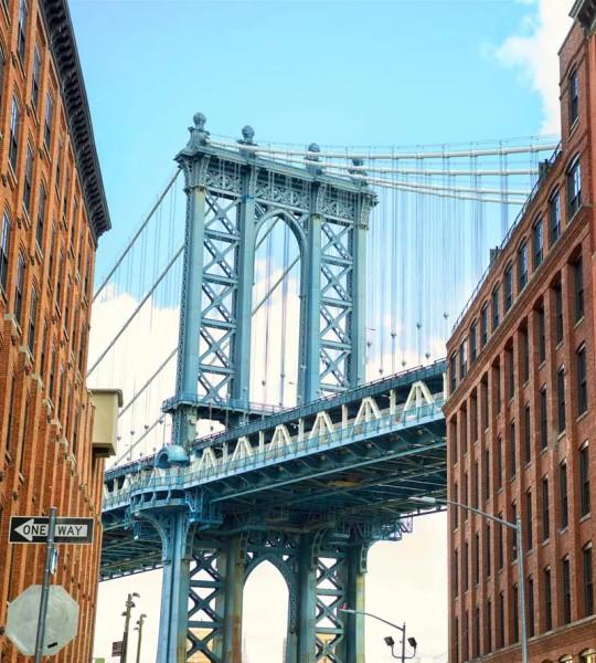 Vliestapete Brücke in Manhattan 225x250