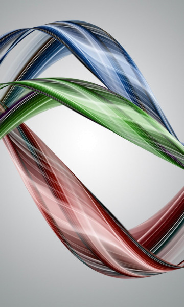 Vlies Fototapete glänzende Farbwellen 150x250