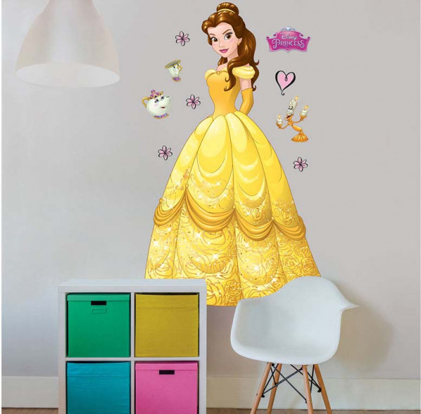 Walltastic Kinderzimmer Wandsticker Disney Princess Belle XXL
