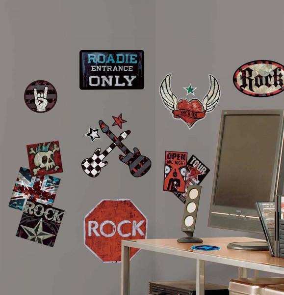 Wandtattoo Boys Rock and Roll Jungenzimmer