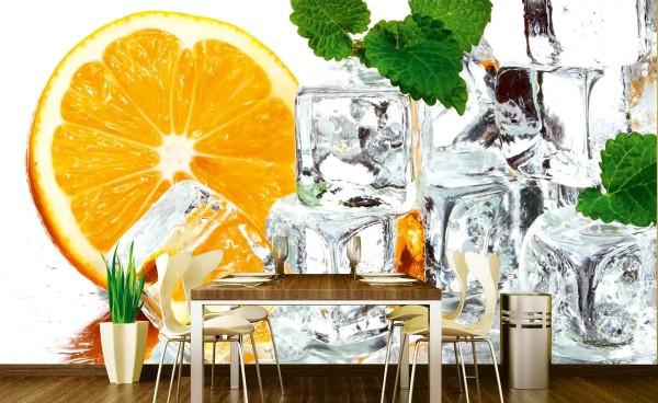 Vliestapete Zitronen Eis 375x250