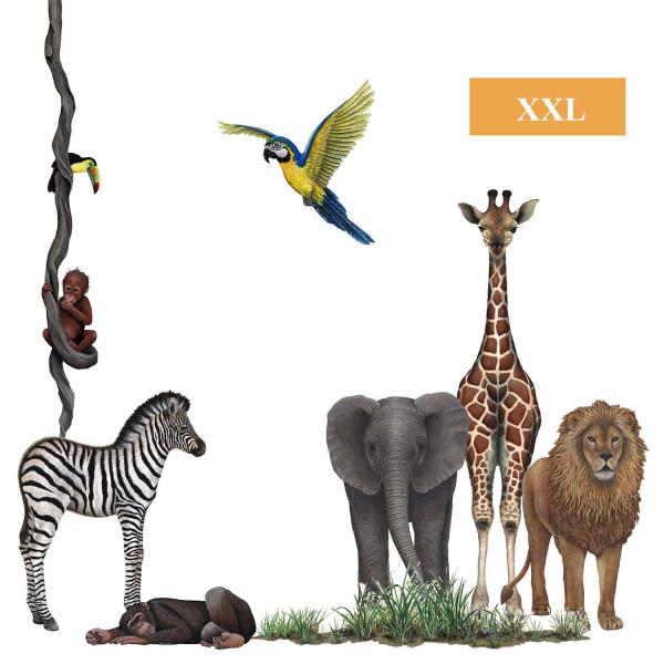 Wandsticker Dschungelwelt Wildlife Set1